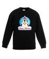 Kersttrui pinguin kerstbal zwart voor jongens en meisjes 5-6 jaar (110/116) Zwart