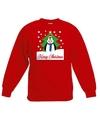 Kersttrui pinguin voor kerstboom rood voor jongens en meisjes 14-15 jaar (170/176) Rood