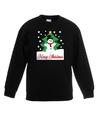 Kersttrui sneeuwman voor kerstboom zwart voor jongens en meisjes 5-6 jaar (110/116) Zwart