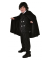 Kinder dracula cape zwart One size Zwart