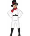 Kinder sneeuwman kostuum 104-116 (3-5 jaar) Wit