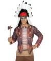 Kleding Indianen shirt verkleedoutfit S Bruin