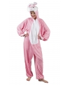 Konijn/haas onesie dierenpak 180 cm One size Roze
