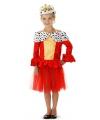 Koninginnen jurkje voor meisjes 3-5 jaar (S) Rood