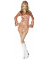 Korte hippie jurk voor dames 44-46 (L) Multi
