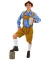Lichtbruine Tiroler broek korte pijpen