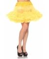 Korte tule onderrok geel voor dames One size Geel