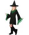 Korte zwarte heksenjurk voor meisjes 128 - 6-8 jr Multi
