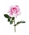 Kunstbloemen roos roze 37 cm