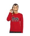 La Casa de Papel masker inclusief rode Bella Ciao trui voor dames M Rood