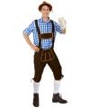 Donkerbruine Tiroler broek lange pijpen