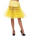 Lange tule onderrok geel voor dames One size Geel