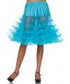 Lange tule onderrok turquoise voor dames One size Multi