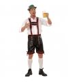 Oktoberfest lederhose zwart met rood