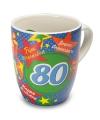 Verjaardags mok 80 jaar