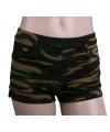 Legerprint hotpants voor dames S/M Multi
