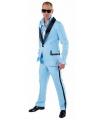 Lichtblauw maatpak kostuum voor heren 52-54 (M) Blauw