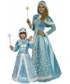 Lichtblauwe sneeuw koninginnen jurkje dames 40/42 Blauw
