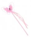 Roze toverstaf met vlindertje