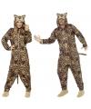 Luipaard huispak voor volwassenen 42-52 (L) Bruin