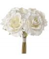 Cremekleurig rozen boeket