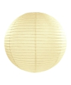 Ivoorkleurige lampion rond 35 cm