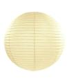 Ivoorkleurige lampion rond 50 cm