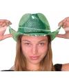 Luxe groene party hoeden