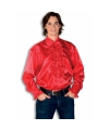 Luxe heren rouche overhemd rood XL Rood