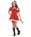 Luxe kerst jurkje voor meiden 152 Rood