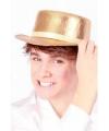 Platte hoed goud