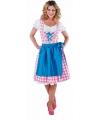 Luxe Oktoberfest dirndl roze voor dames 36 (S) Multi