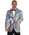 Zilveren heren jas deluxe