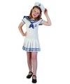 Matrozen verkleedkostuum voor meiden 120-130 (7-9 jaar) Multi