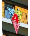 Mega vlag 4e verjaardag 90 x 150 cm