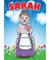 Deur poster Sarah