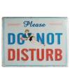 Metalen wand bordje Do Not Disturb