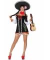 Mexicaanse kleding voor dames XS/S (34-36) Zwart