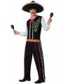 Mexicaanse kleding voor heren XL Zwart