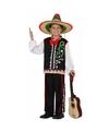 Mexicaanse muzikant verkleedkostuum voor jongens 116 (5-6 jaar) Multi