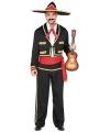 Mexico heren verkleedkleding M/L (T-04) Multi