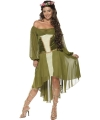 Middeleeuws kostuum voor dames 44-46 (L) Groen