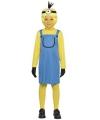 Mini kostuum geel meisje 120-130 (7-9 jaar) Multi