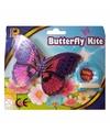 Paarse vlinder mini vlieger van 15cm