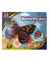 Zilveren vlinder mini vlieger van 15cm