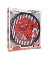 Minnie Mouse wandklok 3D rood
