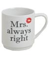 Koffie beker Mrs Always Right