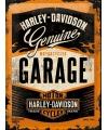 Tinnen plaatje Harley Davidson garage 30 x 40 cm