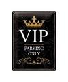 Leuk decoratie bord met de tekst VIP parking only