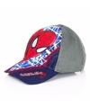 Navy blauwe Spiderman cap voor kinderen